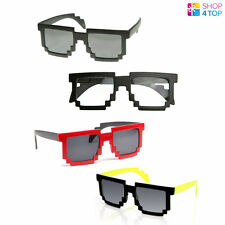 8 BIT PIXEL SUNGLASSES FUNNY LOVELY CUTE PARTY EVERYDAY COMPUTER GEEK NERD NEW