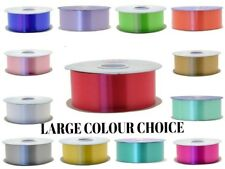 """florist poly ribbon -100 yards -2"""" wide - LARGE COLOUR SELECTION TO CHOOSE FROM-"""