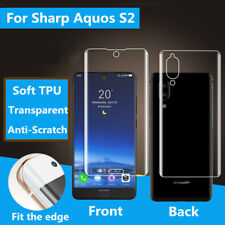 Full Cover HD TPU Front Back Screen Protector Film Shield For Sharp Aquos S2 Lot