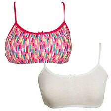 H128 Hanes Girls Cotton Pullover Bra 2-pack Style- Choose SZ/Color.
