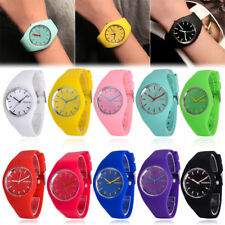 Geneva Women Ladies Soft Jelly Silicone Band Quartz Sports Girl Kids Wrist Watch
