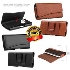 Luxmo Leather Holster Belt Clip Pouch Case Cover For iPhone Samsung Cell Phone