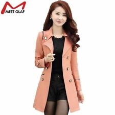 Trench Coat Women 2017 Spring Autumn Female Casual Double-Breasted Long Coats Ov