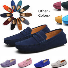 Women Men Suede Leather Loafers Penny Comfy Formal Casual Moccasins Shoes Kids
