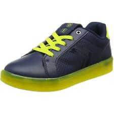 Geox J Kommodor B Navy/Lime Synthetic Junior Boots