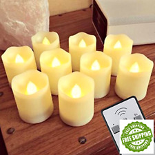 Flameless LED Tea Light Candles With Remote Unscented Votive Candle Lot Tealight