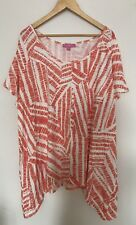 WOMAN WITHIN WOMEN PLUS 1X,3X TOP SHORT SLEEVE SHIRT SYMETRIC SCOOP NECK NEW