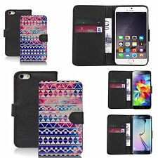 pu leather flip wallet case for many Mobile phones - retro