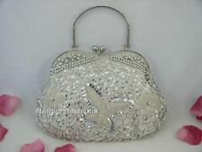 Fully Sequined Beaded Butterfly Purse Jewel Frame TOTE Various 7 Colors