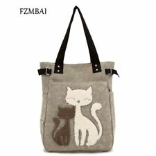 Fashion Women's Handbag Cute Cat Tote Bag Lady Canvas Bag Shoulder bag