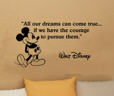 Disney Mickey Mouse dreams come true wall quote vinyl wall art decal sticker