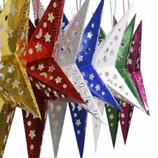Colorful Christmas 3D Decorations Ornaments Pentagram Xmas Hanging Party UU