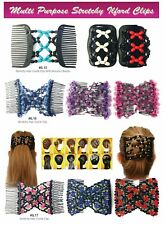 Best Easy Wood Beads Double Hair Comb Clip Stretchy Women Hair Accessories