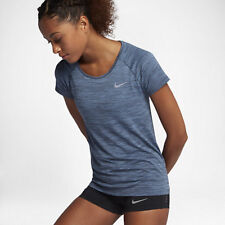 Nike DRI FIT KNIT WOMEN'S SHORT SLEEVE RUNNING TOP December Sky- XS,S,M, L Or XL