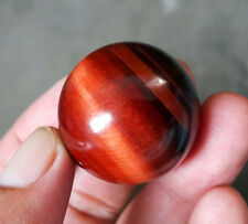 RARE 39.8 G 30MM Natural Red Tiger eye Crystal Sphere Ball 9138