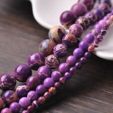 Natural Purple Dyed Imperial Jasper Stone Gemstone Loose Beads 4mm/6mm/8mm/10mm