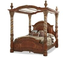 AICO Furniture - Villa Valencia Cal. King Bed with Canopy in Chestnut - 72000CKC