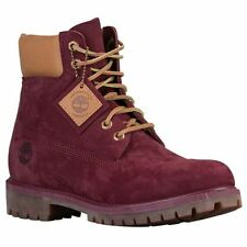 "Timberland 6"" Premium Winter Boots Burgundy Maroon Waterbuck Waterproof Mens NEW"