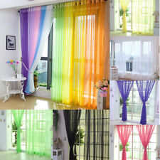 Floral Tulle Voile Door Window Curtains Drapes Panels Sheer Scarf Valances 1x2m