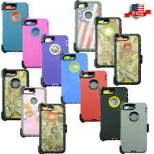 For Apple iPhone 7 Plus Camo Cover Case(Belt Clip Fits Otterbox Defender Series)