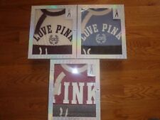 VICTORIAS SECRET PINK RINGER CREW TEE BOYFRIEND PANT SET GIFT BOXED OR NOT NWT