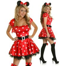 Adult Minnie Mickey Mouse Costume Halloween Disney Dress Up Party Outfit & Ears