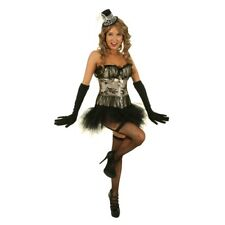 Womens Champagne Nouveau Burlesque Costume Corset Hens Night Party Outfit