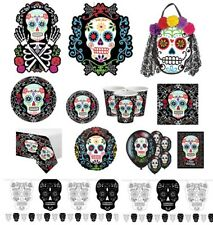 Day of the Dead Halloween Party Supplies Decorations Skull Plates Cups Napkins