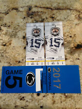 2 Penn State Nittany Lions vs Michigan Football Tickets  With BLUE PARKING PASS