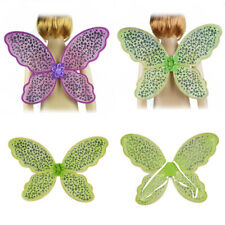 Princess Girl Speckled Butterfly Wing Fairy Pixie Fancy Dress Halloween Costume