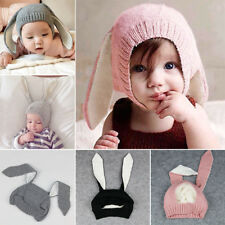Winter Baby Toddler Kids Cute Knitted Rabbit Crochet Ear Beanie Warm Hat Cap NEW