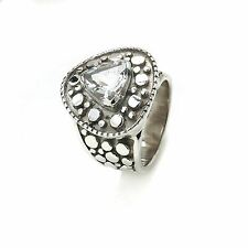 crystal 925 Solid Sterling Silver  Ring Available in Different Sizes