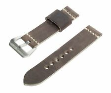 SWISS REIMAGINED Full Grain Italian Leather Watch Band Strap with Steel Buckle