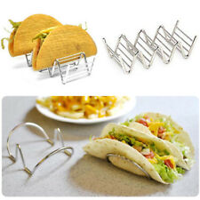 Wave Shape Stainless Steel Taco Holders Mexican Food Rack 2-4 Hard Shells Hot