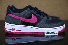 Nike Air Force 1 Black Vivid Pink White 314219 016 GS Youth Girls Size 4Y-7Y