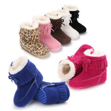 Christmas Baby Girl Soft Sole Snow Booties Soft Crib Shoes Infant Toddler Boots