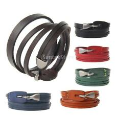 Retro Multilayer Bracelet Bangle Leather Wristband Fashion Casual Unisex Jewelry