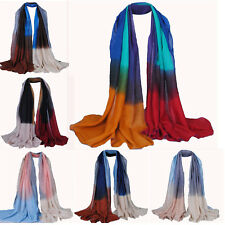 Infinity Scarf Women Gradient Color Long Soft Paris Yarn Scarves Shawl Wrap WOW