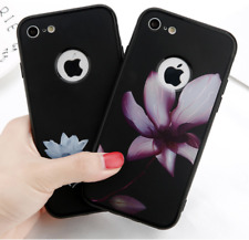 Lotus Leaf Painting Soft TPU Phone Case For iPhone 8, 8 Plus Flower Back Cover
