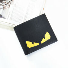 Monster Zip Purse Yellow Eyes PU Leather Photo Holder Wallet Bag Checkbook