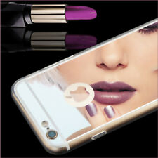 Luxury Ultra Thin Mirror Finish Soft Mirror Metal Case For Apple iPhone 8 6s 5S