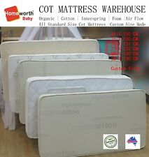 Australia Made Organic Cotton Innerspring MATTRESS Cot Single Queen Custom Size