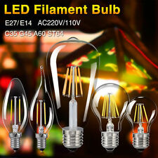 E27/E14 2/4/6/8W LED Bulb Vintage Edison Retro Lamp Filament Candle light 220V