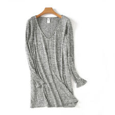 Womens Clothing Plus Size Gray Tops Vneck Tee Long Sleeve