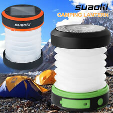 USB &Solar Rechargeable LED Lantern Lamp Outdoor Camping Hiking Tent Light T