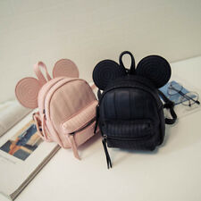 Minnie Mouse Women Girl Backpack PU Leather Ears Shoulder Bag School Travel Bags