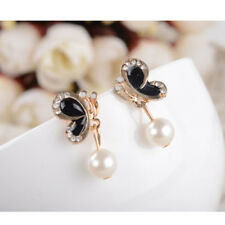 New Arrival ! Fashion Crystal Pearl & Butterfly Studs Earrings