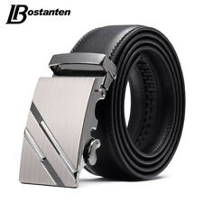 Genuine Leather Men Belts Automatic Buckle Business Waistband Waist Strap 4041K