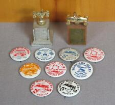 Vintage Soap Box Derby Group of Collectible Race Pins & Trophy Awards 1960s-70s