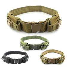 """2"""" Heavy Duty Tactical Belt with Dual Pistol Mag Pouches Fits 40"""" Waist"""